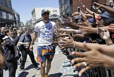 Stephen Curry Just Don Short Parade Champion NBA Golden State Warriors T. L