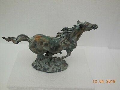 vintage medium metal/spelter figure of a horse made to look weathered 12 by 8 in
