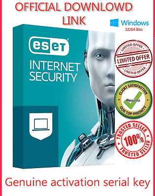 ESET NOD 32 Internet Security 2019✅ 3Pcs 💻 2 Years ⌛ Global