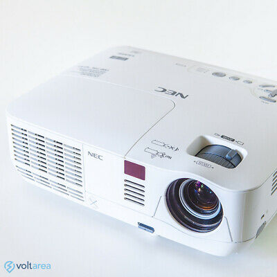 NEC V300X NP-V300X DLP Projector HDMI 3D Ready home theater with remote and cabl