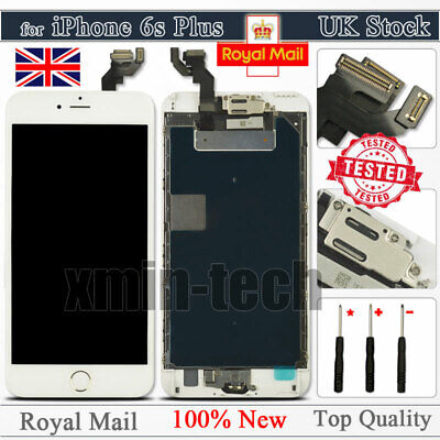 """White For iPhone 6S Plus 5.5"""" Screen LCD Touch Replacement Digitizer Home Button"""