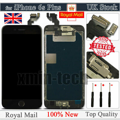"""Black For iPhone 6S Plus 5.5"""" Screen LCD Touch Replacement Digitizer Home Button"""