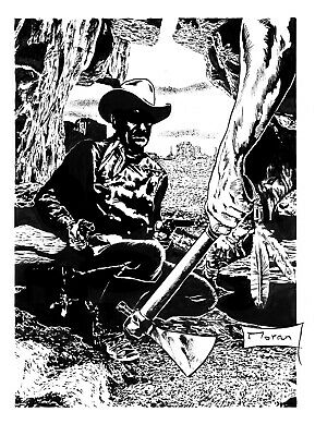 'The Tomahawk' Original Western Art By Rob Moran