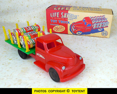 Marx Toys Life Savers candy delivery toy stake truck Lifesavers