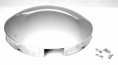 """UP Front Hub Cap 4 Even Notches Dome Stainless Aluminum Wheel 1"""" Lip #20118 Each"""