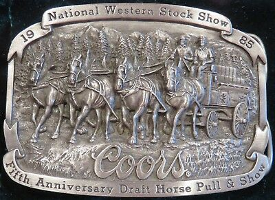 National Western Stock Show Coors Belt Buckle (1985) Limited Edition
