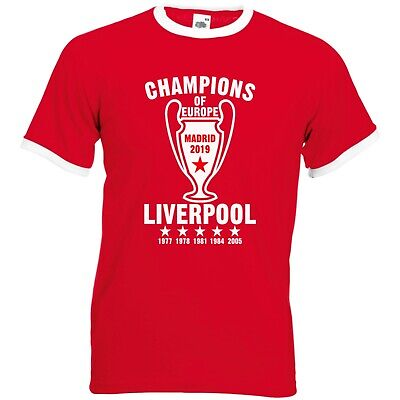 Liverpool Fan Champions Retro Ringer Football T-Shirt Europe