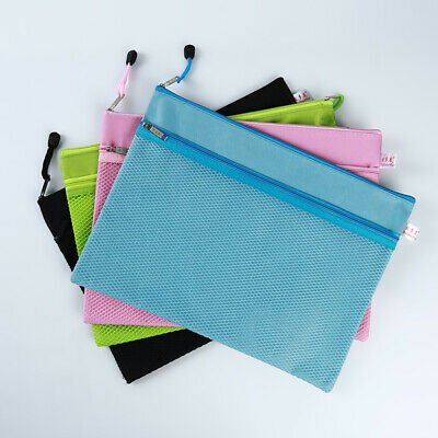 Office Supplies 10 Pcs Netting Surface A3 Document File Holder Zipper Bag Multicolor N8G1 Filing, ...