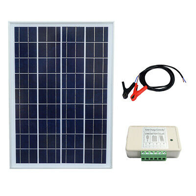 ECO-WORTHY 25W Solar Panel Kit Charging Camping Boat Hiking Camper Battery Power