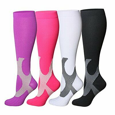 Graduated Compression Sock Over Calf Below Knee High Foot Support Stocking C15