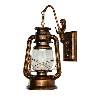 Retro Antique Vintage Rustic Lantern Lamp Wall Sconce Light Fixture Outdoor