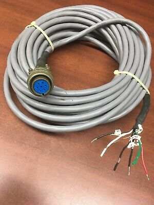 New Amphenol 16S-1SF 7 Pin Round Connector with 40 Ft. Cable