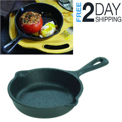 Cast Iron Fire Cooking Skillet Seasoned Frying Pan Camping Cookware Outdoor Fry