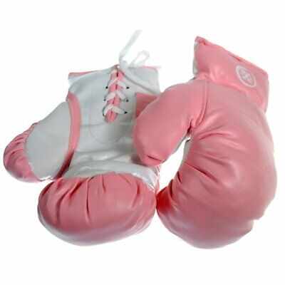 1 Pair of Triple Threat Lace-Up Style Kids Boxing Gloves -  Pink - 6oz
