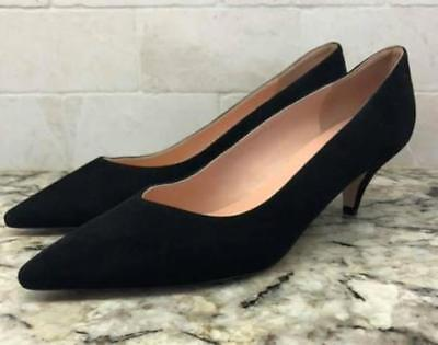 05721b2c83 new J Crew Dulci V-Cut Suede Kitten Heels Shoes $198 black 10 J8210 office