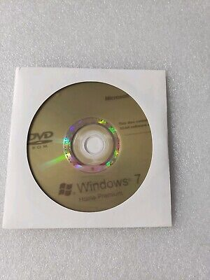 Windows 7 Home Premium 32 Bit Software Installation DISC ONLY No KEY Holographic