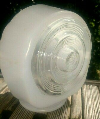 Vintage Unique Clear and Frosted glass light fixture cover