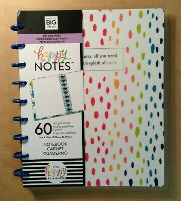 """NEW! me & my BIG Ideas The Happy Planner """"SPLASH OF COLOR"""" Classic Happy Notes"""