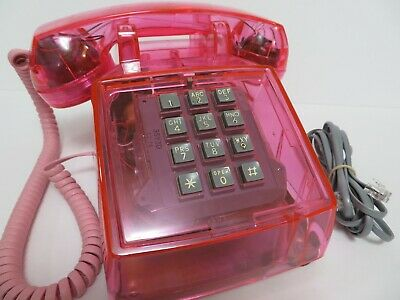 Vintage Clear Pink Western Electric 2500 Telephone works Collectors Edition
