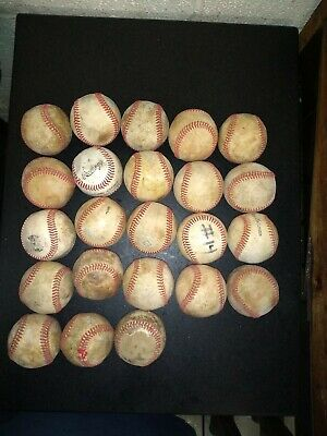 LOT OF 12 ALL LEATHER practice training little big league