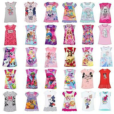 Girls/Kids Nightie Nightdress Disney Character Childrens Pyjamas Age 2-8 Years