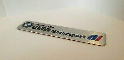 Powered By Bmw Motorsport Metal Aluminium Sticker Decal 3D Interior Exterior