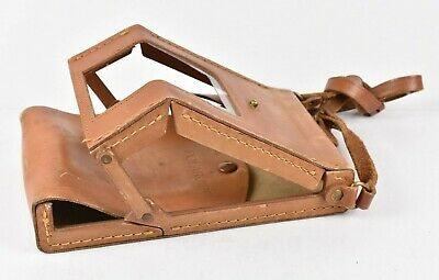 Polaroid SX-70 Land Camera Folding Carry Case Tan Leather Beautiful Patina