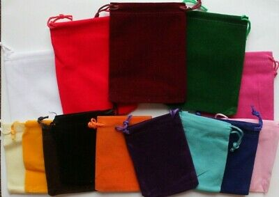 1pc 5pcs Drawstring Velvet Pouch Gift Bag Wedding Party Jewellery Tumbled Stones