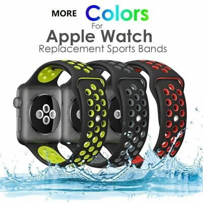 40mm/44mm 38/42mm Silicone Sport Watch Band Strap For Apple Watch iWatch 4 3 2 1