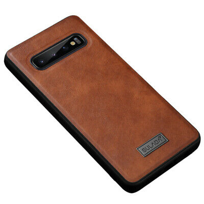 For Samsung Galaxy S10 Plus S10e Leather Shockproof Luxury Ultra Slim Case Cover