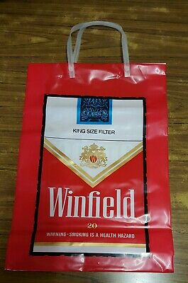 Winfield Cigarettes Plastic Bag, Collectable, New.