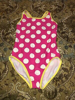 6a7975a0a1 VGUC CIRCO Girls One Piece Pink/Yellow Polka Dots Racer Back Swim Suit (M