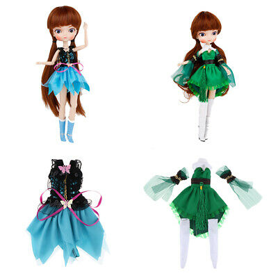 2pcs 1/6 BJD Dress Cosplay Clothes Outfits for Dollfie Clothing Lolita Skirt