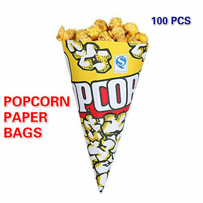 a1df2b7ef1f356 100pcs Paper Popcorn Bags Cone Party Favors Cookies Candy Holder Birthday  HOT