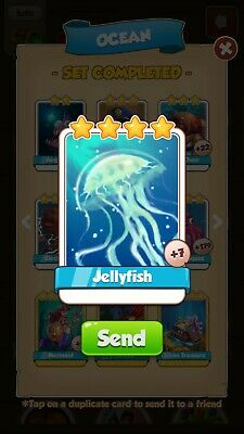 Coin Master Cards Jellyfish and other available.please read item description.
