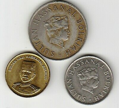3 different world coins from BRUNEI