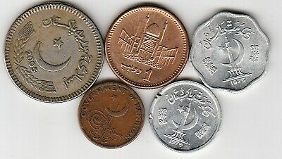 5 different world coins from PAKISTAN