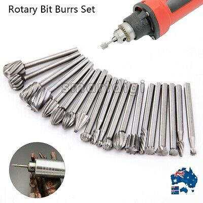20x 3mm Solid Carbide Burrs Fr Dremel Rotary Tool Drill Die Grinder Carving Bit