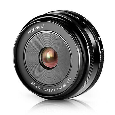 Neewer 28mm f/2.8 Manual Focus Prime Fixed Lens for SONY E-Mount Digital Cameras