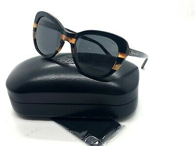 9e4b9cb0a524b Coach HC8204 HC 8204 544380 Black Tortoise Stripe Cat Eye Sunglasses 52 19  140