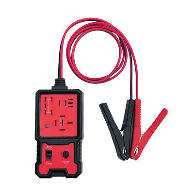 12V Car Battery Checker Electronic Relay Tester w/Clips Diagnostic Tool Parts