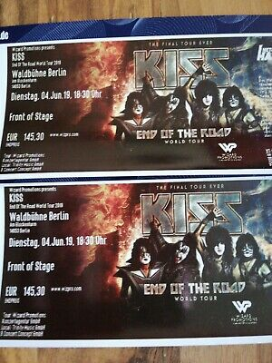 2x KISS Front of Stage Tickets Berlin 04.06.2019
