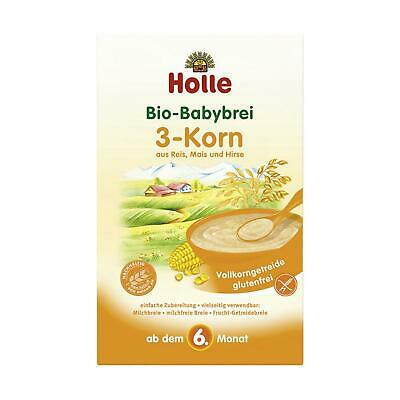 6x Holle Baby Food Bio 3-Korn-Brei 250g