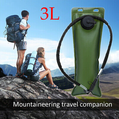 3L TPU Water Bladder Bag Backpack Hydration For Outdoor Camping Hiking Climbing