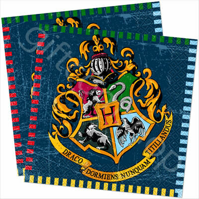 """16 Harry Potter 13"""" Paper Napkins Childrens Birthday Party Tableware Supplies"""