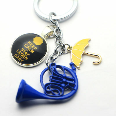 TV How I Met Your Mother HIMYM Yellow Umbrella mother Blue French Horn keychain