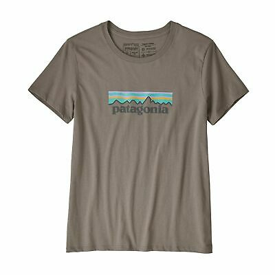 Patagonia Women's Pastel P-6 Logo Organic Cotton Crew T-Shirt (Feather Grey)