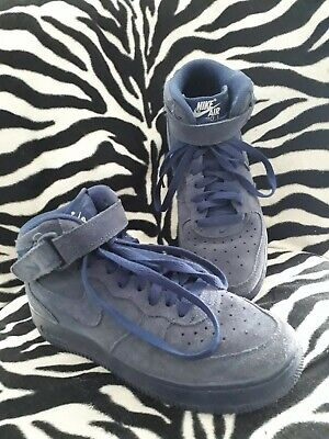the latest 4bdf0 dda3b Nike Air Force One En Daim Bleu Montante P 38.5 Tbe