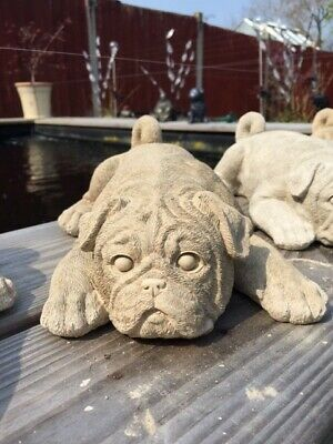 Pug Boxer dog statue garden ornament