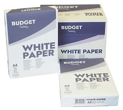 Budget A4 White Paper 80Gsm Printer Copier 1 2 3 4 5 10 20 Reams Of 500 Sheets